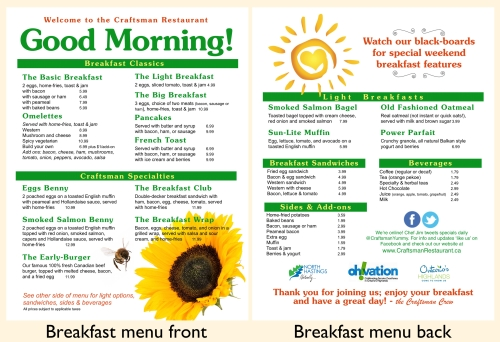 Here's our new breakfast menu; you can click on it to see it enlarged.